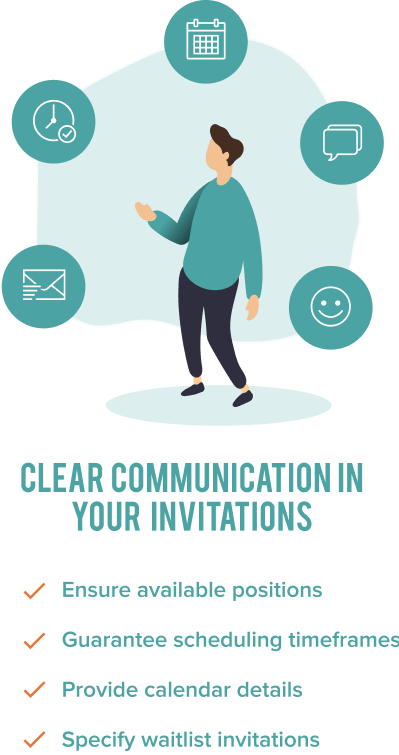Communicate Invitation Message Infographic